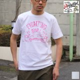 RIDING HIGH×EGG SNDWCH LABEL/ HANDWRITING STYLE PRINT TEE(FIGHTING)