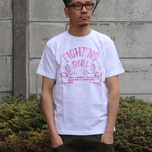 画像2: RIDING HIGH×EGG SNDWCH LABEL/ HANDWRITING STYLE PRINT TEE(FIGHTING)