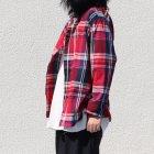 More photos2: マドラス大判チェックスタンドスモールカラー シャツジャケット【MADE IN JAPAN】『日本製』/ Upscape Audience