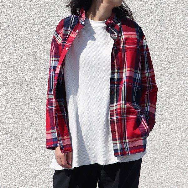 画像2: マドラス大判チェックスタンドスモールカラー シャツジャケット【MADE IN JAPAN】『日本製』/ Upscape Audience