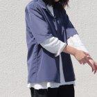 More photos1: レーヨンライク ピーチファイユ オープンカラー ルーズフィットシャツ[Lady's]【MADE IN JAPAN】『日本製』/ Upscape Audience