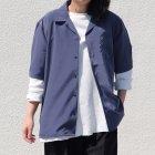 More photos2: レーヨンライク ピーチファイユ オープンカラー ルーズフィットシャツ[Lady's]【MADE IN JAPAN】『日本製』/ Upscape Audience