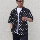 More photos3: コットンレーヨン BIG DOT柄  オープンカラー ハーフスリーブシャツ【MADE IN JAPAN】『日本製』/ Upscape Audience