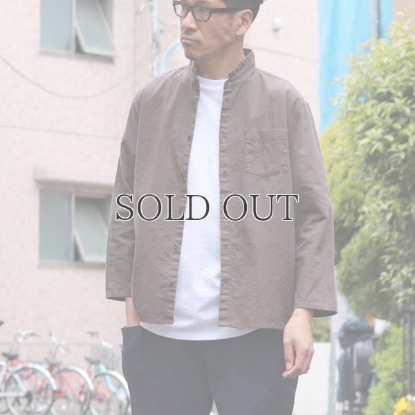 画像2: ソフトリネンコットンキャンバス スタンドスモールカラー9/S シャツジャケット【MADE IN JAPAN】『日本製』/ Upscape Audience
