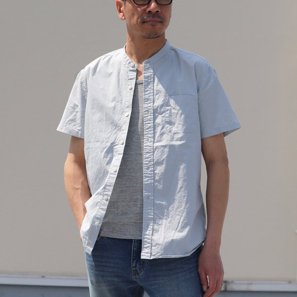 画像2: コーマタイプライターバンドカラーS/Sシャツ【MADE IN JAPAN】『日本製』/ Upscape Audience