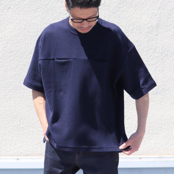 画像2: コットン サマーニット シームポケット付 ビッグTシャツ【MADE IN JAPAN】『日本製』 / Upscape Audience
