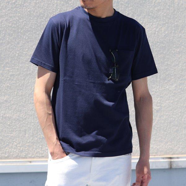 画像2: コーマ天竺 グラスポケ付 オーバーラップネック 半袖Tシャツ【MADE IN JAPAN】『日本製』/ Upscape Audience