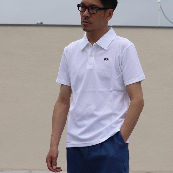 画像2: 鹿の子3色ゾウ刺繍ワンポイントレギュラーカラー半袖ポロシャツ【MADE IN JAPAN】『日本製』 / Upscape Audience