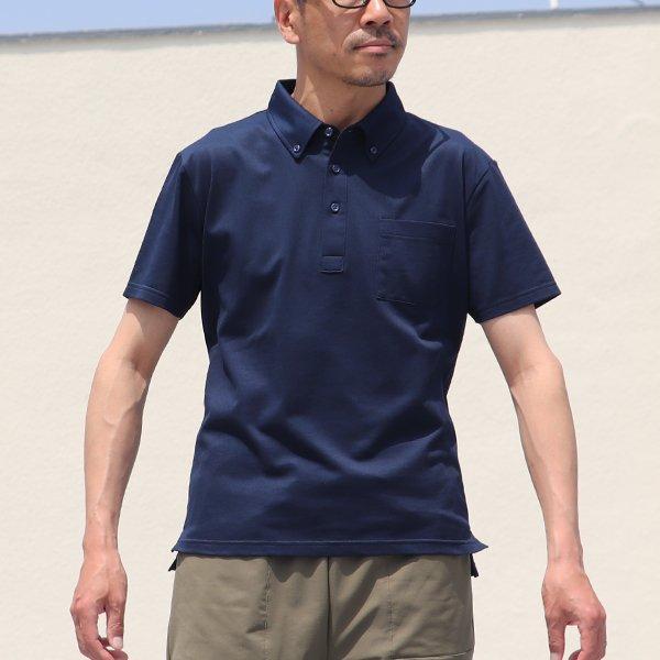 画像2: 【RE PRICE/価格改定】Coolmax(クールマックス)鹿の子 グラスポケット付 ボタンダウン ポロシャツ【MADE IN JAPAN】『日本製』/ Upscape Audience
