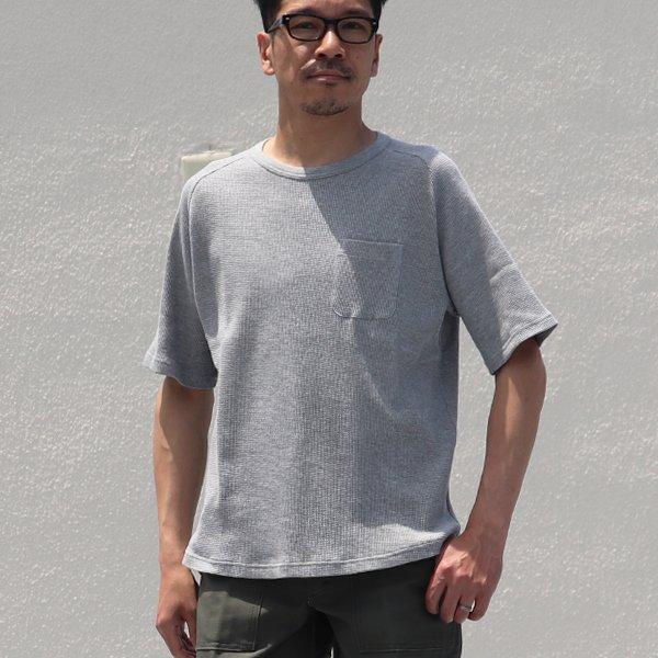 画像2: 度詰ワッフル ヘムラウンドポケTEE【MADE IN JAPAN】『日本製』/ Upscape Audience