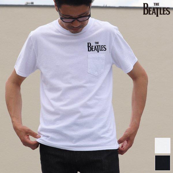 画像1: BEATLES ロゴ刺繍USAファブリック丸胴国産ポケットTEE【FABRIC MADE IN USA】【ASSEMBLED IN JAPAN】『日本製』/ Upscape Audience