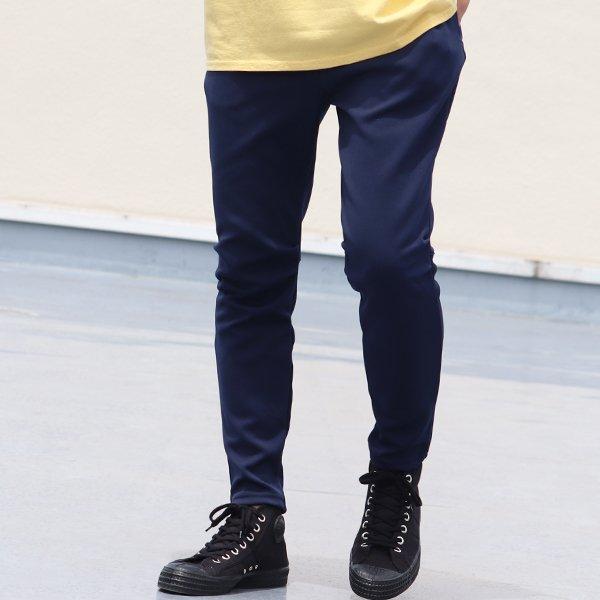 画像2: 4段スムース 裾リブ スリムイージーアンクルパンツ【MADE IN JAPAN】『日本製』 / Upscape Audience