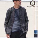 麻混デニムマオカラー9分袖 ライト_Jacket【MADE IN JAPAN】『日本製』/ Upscape Audience