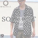 コットンレーヨン BIG DOT柄  オープンカラー ハーフスリーブシャツ【MADE IN JAPAN】『日本製』/ Upscape Audience