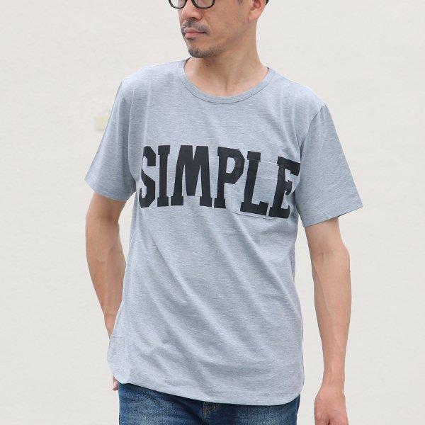 """画像2: 【RE PRICE / 価格改定】ラフィー天竺""""SIMPLE""""プリントポケット付きクルーネックT【MADE IN JAPAN】『日本製』/ Upscape Audience"""
