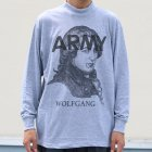 "More photos2: SOFFE /Army Mock neck Long Sleeve ""Wolfgang"" Print Remake"