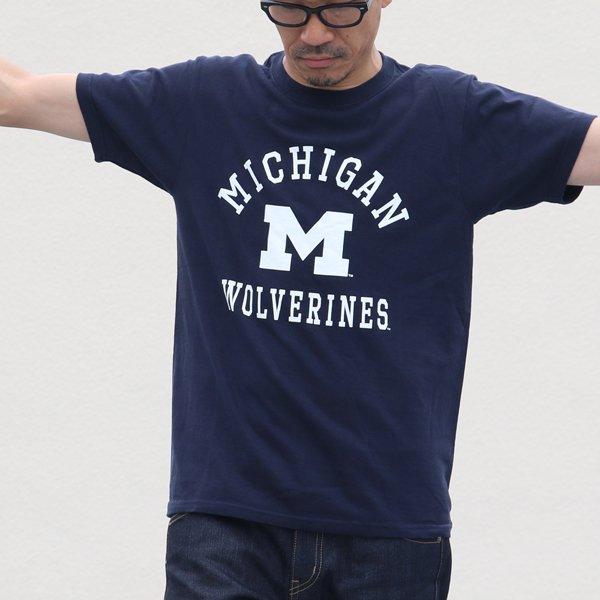 """画像2: 【RE PRICE / 価格改定】MICHIGAN """"MICHIGAN M WOLVERINES"""" C/N S/S 6.6oz オールドプリントT / Audience"""