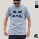 "【RE PRICE / 価格改定】MICHIGAN ""M"" C/N S/S 6.6oz オールドプリントT / Audience"