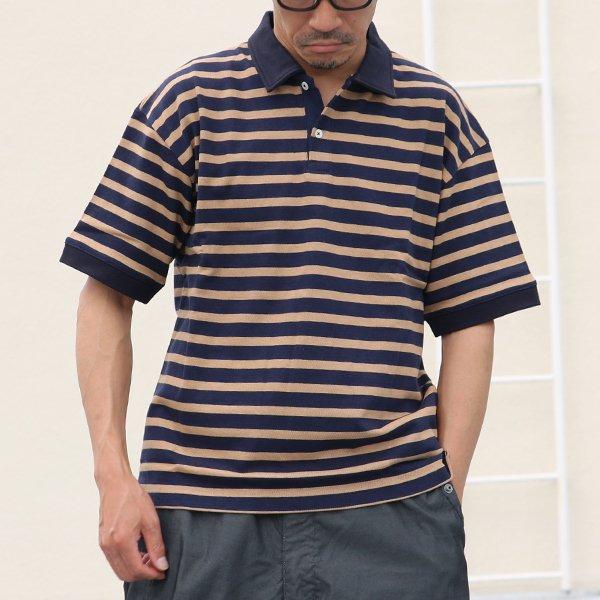 画像2: BSQボーダー度詰天竺 ビッグポロシャツ【MADE IN JAPAN】『日本製』/ Upscape Audience