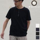 【RE PRICE / 価格改定】JPSダブルニットクルーネックヘンリー半袖Tシャツ【MADE IN JAPAN】『日本製』/ Upscape Audience