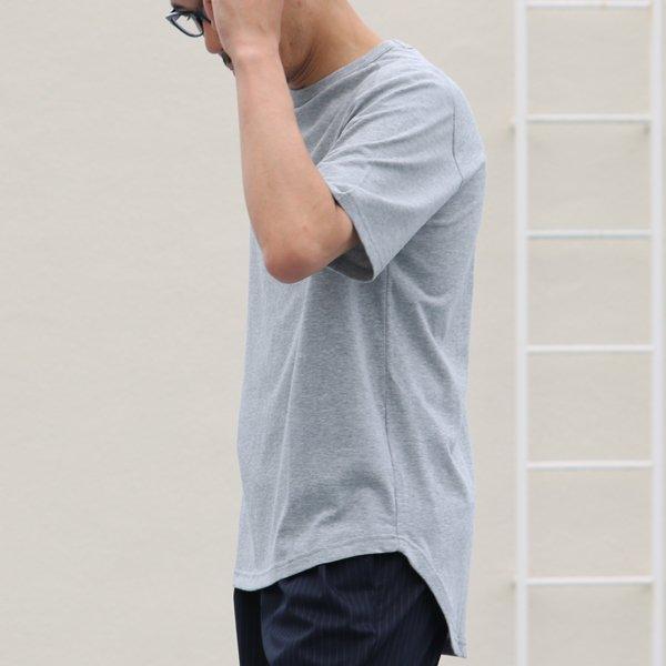 画像2: コーマ天竺 ヘムラウンド ポケTee【MADE IN JAPAN】『日本製』/ Upscape Audience