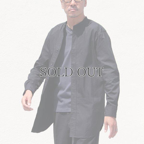 画像2: グリストーンW コットンナイロン高密度ギャバ ルーズFIT バンドカラー ツールポケ 長袖シャツ【MADE IN JAPAN】『日本製』Upscape Audience