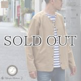 VORTEX(MVS天竺)ノーカラースナップジャケット【MADE IN JAPAN】『日本製』 / Upscape Audience