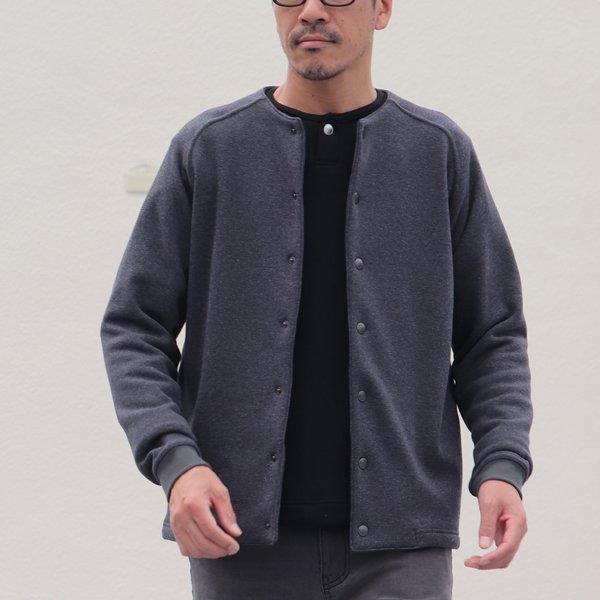 画像2: 【ボンバーヒート】爆暖裏起毛 ノーカラースナップジャケット【MADE IN JAPAN】『日本製』 / Upscape Audience
