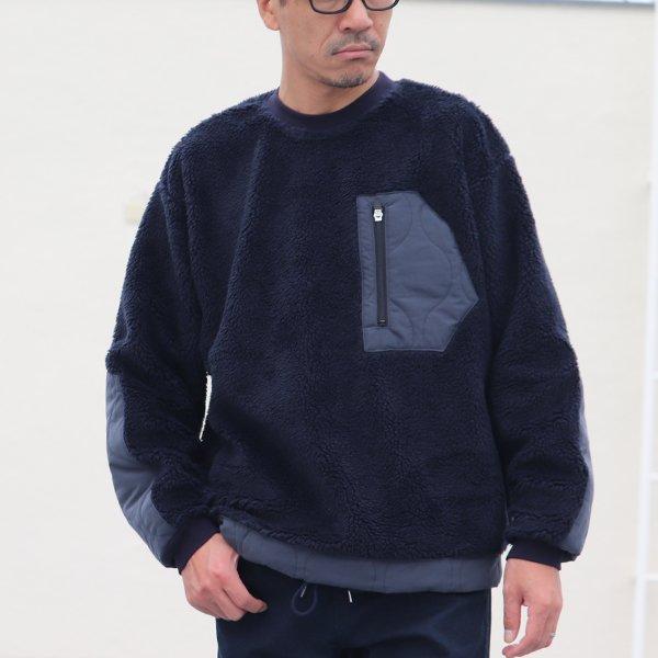 画像2: 【Lanificio Becagli(ベッカリー)】トスカーナボア クルーネックプルオーバージャケット【MADE IN JAPAN】『日本製』【送料無料】/ Upscape Audience