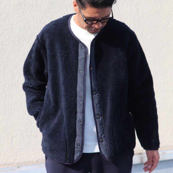 画像2: 【Lanificio Becagli(ベッカリー)】トスカーナボア スナップジャケット【MADE IN JAPAN】『日本製』【送料無料】/ Upscape Audience