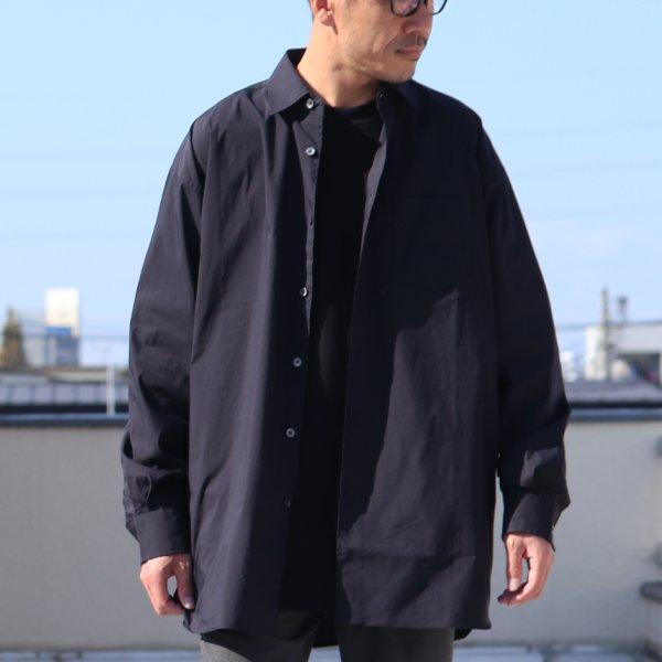 画像2: 70/30クロス ストレッチタイプライターレギュラーカラー L/S ボクシーシャツ【MADE IN JAPAN】『日本製』/ Upscape Audience【一部ご予約・2021年2月下旬頃入荷予定】