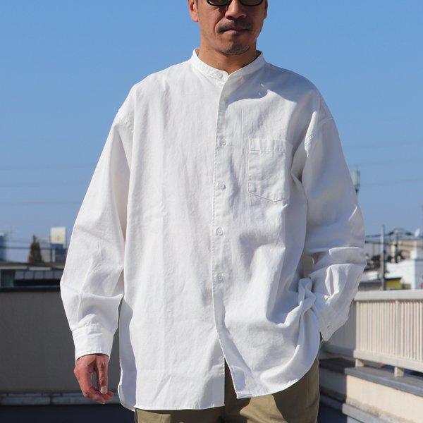 画像2: 6オンス オックスフォード バンドカラー L/S ボクシーシャツ【MADE IN JAPAN】『日本製』/ Upscape Audience【一部ご予約・再入荷2月下旬頃/3月下旬頃入荷予定】