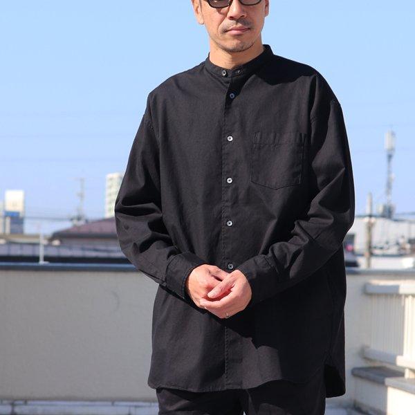 画像2: 6オンス オックスフォード バンドカラー L/S ボクシーシャツ【MADE IN JAPAN】『日本製』/ Upscape Audience【ご予約・再入荷2月下旬頃/3月下旬頃入荷予定】