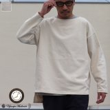 Basque10オンス(バスク天竺)フレンチボーダー ボートネック BOX Tee【MADE IN JAPAN】『日本製』/ Upscape Audience