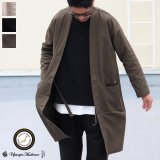【RE PRICE / 価格改定】綿麻ムラ糸サージサムエガウン_Coat【MADE IN JAPAN】『日本製』/ Upscape Audience
