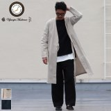 【RE PRICE/価格改定】ソフトリネンコットンキャンバスガウン_Coat【MADE IN JAPAN】『日本製』  / Upscape Audience