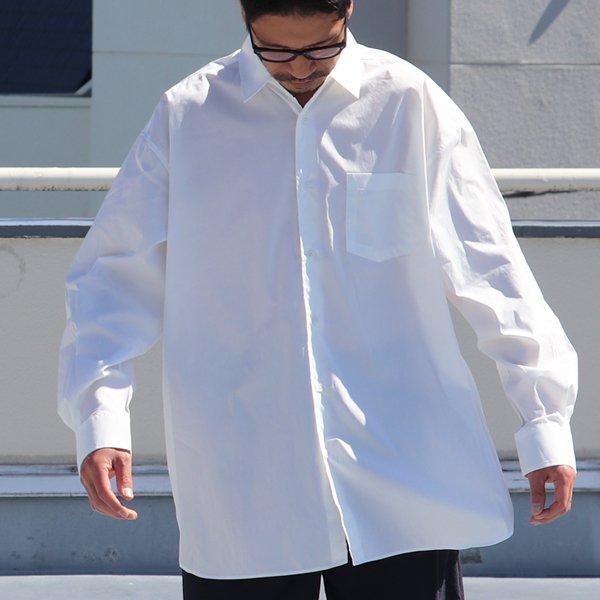 画像2: 70/30クロス ストレッチタイプライターレギュラーカラー L/S ボクシーシャツ【MADE IN JAPAN】『日本製』/ Upscape Audience