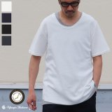 【RE PRICE / 価格改定】JPSダブルニット裾ラウンドUネック半袖Tシャツ【MADE IN JAPAN】『日本製』/ Upscape Audience