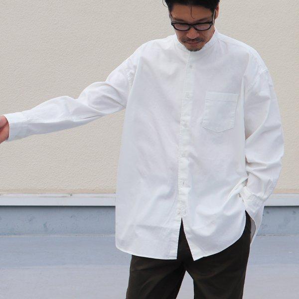画像2: 6オンス オックスフォード バンドカラー L/S ボクシーシャツ【MADE IN JAPAN】『日本製』/ Upscape Audience【ご予約・2021年6月上旬入荷予定】