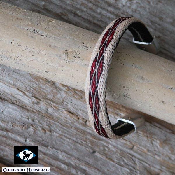 画像2: ホースヘアーシルバーチップ フレキシブルブレスレット / Colorado Horsehair
