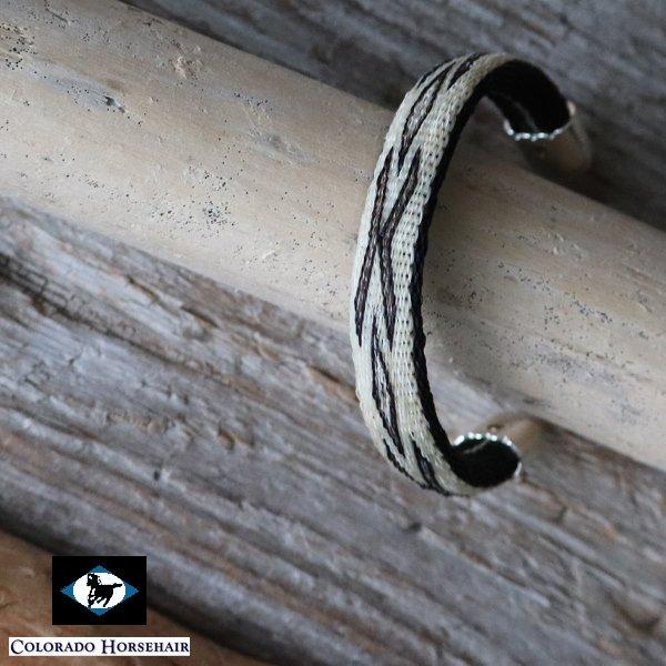 画像1: ホースヘアーシルバーチップ フレキシブルブレスレット / Colorado Horsehair