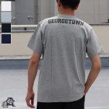 "Georgetown University ""Jack the Bulldog"" 7.1oz米綿丸胴オールドプリントクルーネックポケットT / Audience"