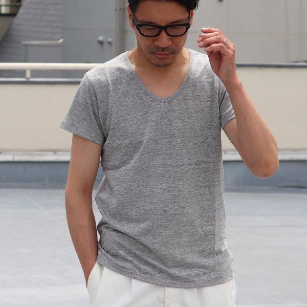 画像2: 【RE PRICE/価格改定】ガラガラ紡Vネック半袖Tシャツ【MADE IN JAPAN】『日本製』/ Upscape Audience