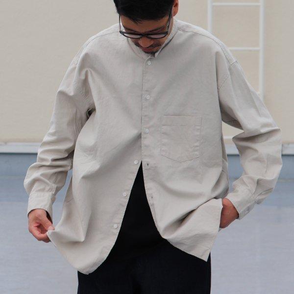 画像2: 6オンス オックスフォード バンドカラー L/S ボクシーシャツ【MADE IN JAPAN】『日本製』/ Upscape Audience