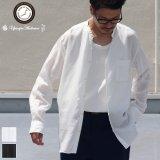 【RE PRICE/価格改定】Vネックバンドカラーテンセル長袖_Shirts【MADE IN JAPAN】『日本製』/ Upscape Audience