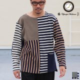 Basque10オンス(バスク天竺)クレイジーボートネック L/S Tee  【MADE IN JAPAN】『日本製』 / Upscape Audience