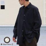70/30クロス ストレッチタイプライターレギュラーカラー L/S ボクシーシャツ【MADE IN JAPAN】『日本製』/ Upscape Audience