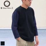 【RE PRICE/価格改定】Basque10オンス(バスク天竺)BBアンダー7分袖カットソー【MADE IN JAPAN】『日本製』/ Upscape Audience