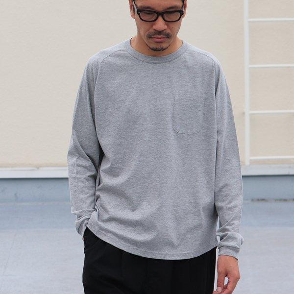 画像2: コーマ天竺ヘムラウンド 胸ポケ付き C/N L/S Tee【MADE IN JAPAN】/ Upscape Audience