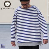 Basque10オンス(バスク天竺)フレンチボーダー ボートネック BOX Tee【MADE IN JAPAN】『日本製』/ Upscape Audience【一部ご予約・10月下旬〜11月上旬入荷予定】